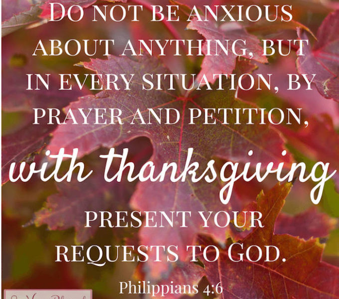Philippians 4:6 typed out